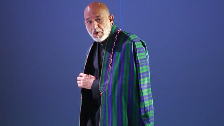 Der ehemalige afghanische Präsident Hamid Karzai in Moskau, Russland, 26. April 2017.