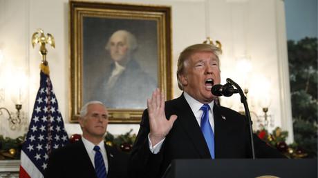 Bei einer Pressekonferenz im Weißen Haus verkündete US-Präsident Donald Trump die Anerkennung Jerusalems als israelische Hauptstadt.