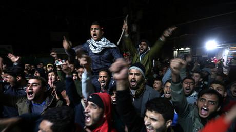 Im Gazastreifen protestieren wütende Einwohner gegen die Entscheidung des US-Präsidenten.