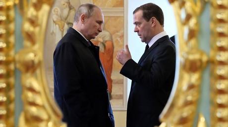 Der russische Präsident Wladimir Putin und Premier-Minister Dmitri Medwedew.