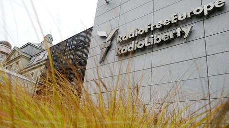 Streng bewacht: Das Stab-Quartier des US-Senders Radio Liberty und Radio Free Europa in Prag