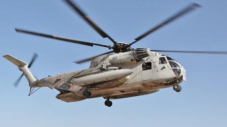 A US Marine-Helikopter CH-53 Sea Stallion