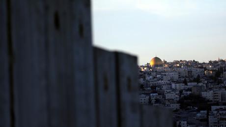 Blick von Abu Dis auf Jerusalem.