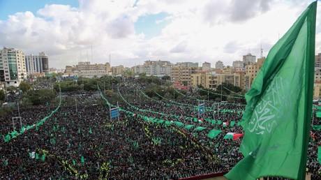 Die Hamas hat in den drei Dekaden seit ihrer Gründung den gesellschaftlichen Zuspruch unter Palästinensern ausgeweitet - Feiern anlässlich des 30-jährigen Bestehens am 14. Dezember.