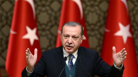 Der türkische Präsident Tayyip Erdogan während einer Veranstaltung in Ankara, Türkei, am 21.12.2017.