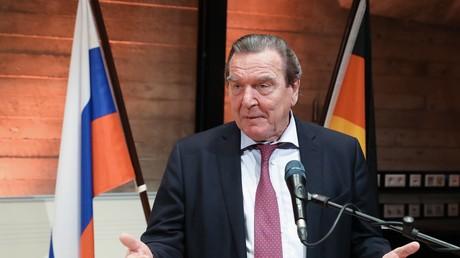 Symbolbild. EX-Bundeskanzler Gerhard Schröder bei einer Veranstaltung in Hannover im November 2017
