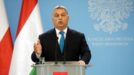 Der ungarische Ministerpräsident Victor Orbán beim offiziellen Besuch in Polen am 22. September 2017.
