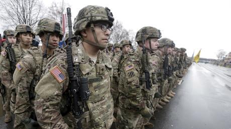 Amerikanische Truppen in Lettlands Hauptstadt Riga, 18. November 2015.