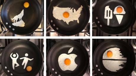 Ei als Kunstwerk: Fotograf schafft Bilder aus Spiegelei