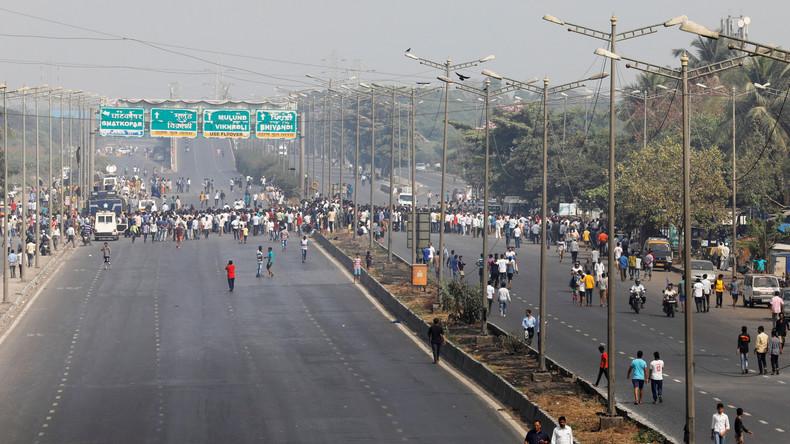 Indiens Unberührbare legen Mumbai nach Angriff auf ihre Gemeinde lahm