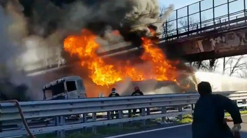 Dramatischer Unfall mit Tankwagen in Norditalien – sechs Menschen getötet