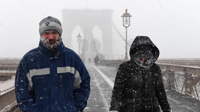 Winterwetter an US-Ostküste: Zehntausende Haushalte ohne Strom