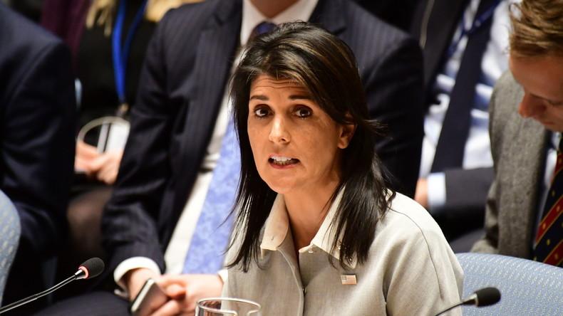 """UN-Botschafterin Haley warnt Iran: """"Die Welt beobachtet, was Sie tun"""""""