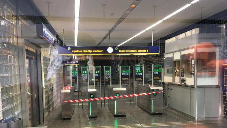 Gegenstand explodiert vor U-Bahn-Station in Stockholm: Ein Schwerverletzter