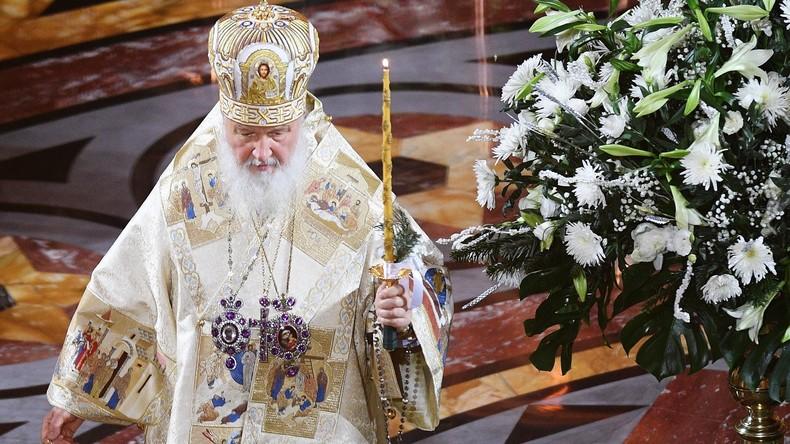Orthodoxer Weihnachtsgottesdienst in der Moskauer Christ-Erlöser-Kathedrale