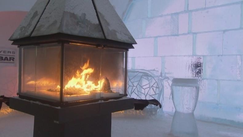 Lied von Eis und Feuer: Brand in kanadischem Eishotel