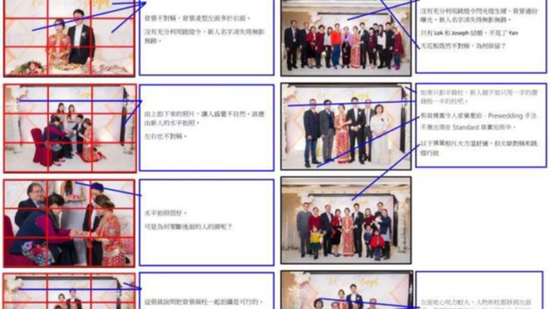 Neuvermählte schicken ihrem Fotografen 30-seitiges Dokument mit Fehlerhinweisen