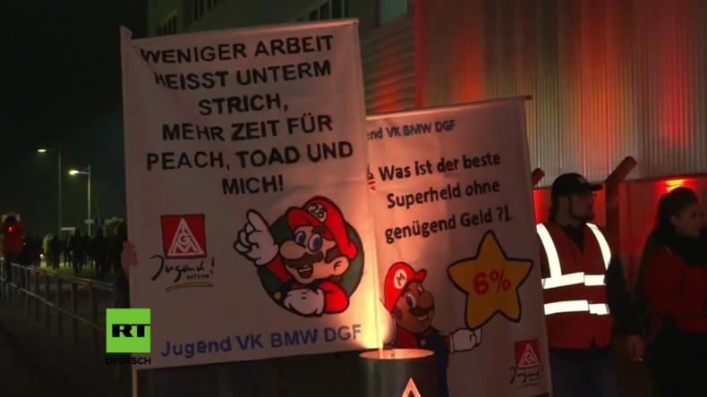 Deutschland: Streik beim BMW-Werk Dingolfing wegen zu geringer Löhne und langer Arbeitszeiten