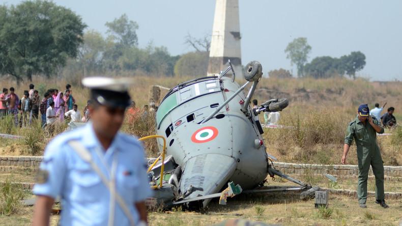 Vier Tote nach Hubschrauberunglück in Indien  – Drei noch vermisst