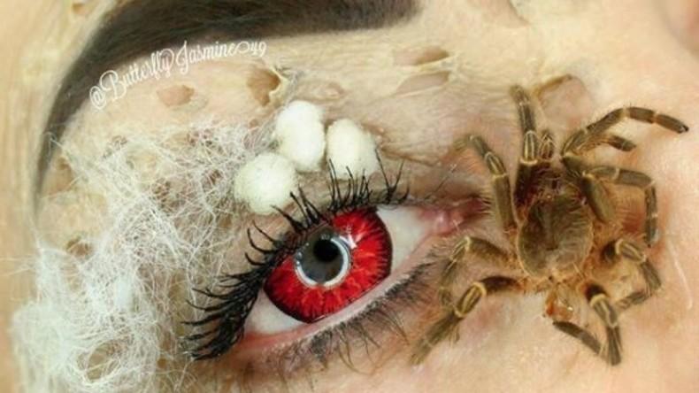 US-Amerikanerin benutzt echte Spinnen und Käfer im extravaganten Make-Up-Experiment [FOTOS]