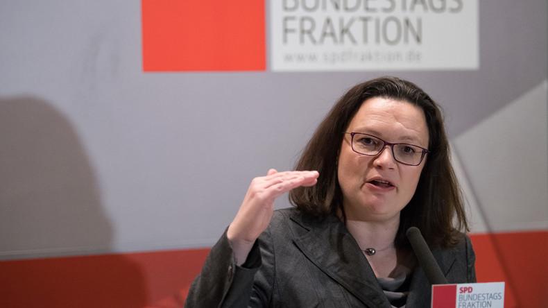 Nahles lässt Mitgliedschaft in der Parlamentarischen Linken ruhen