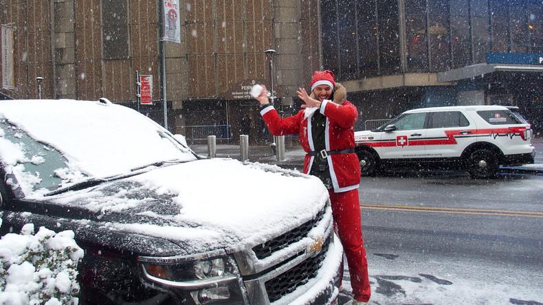 Polizisten wollten Autodieb mit Schneebällen festhalten