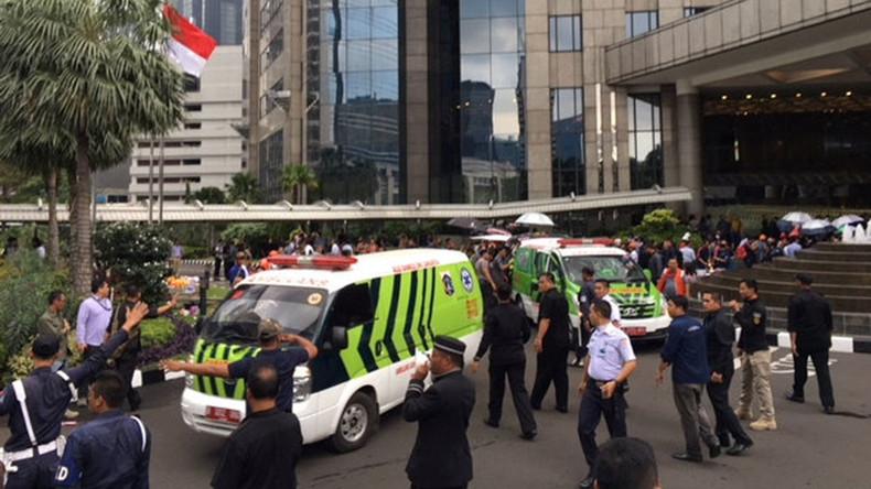 Börse von Jakarta stürzt um eine Etage ein - Mehrere Verletzte befürchtet