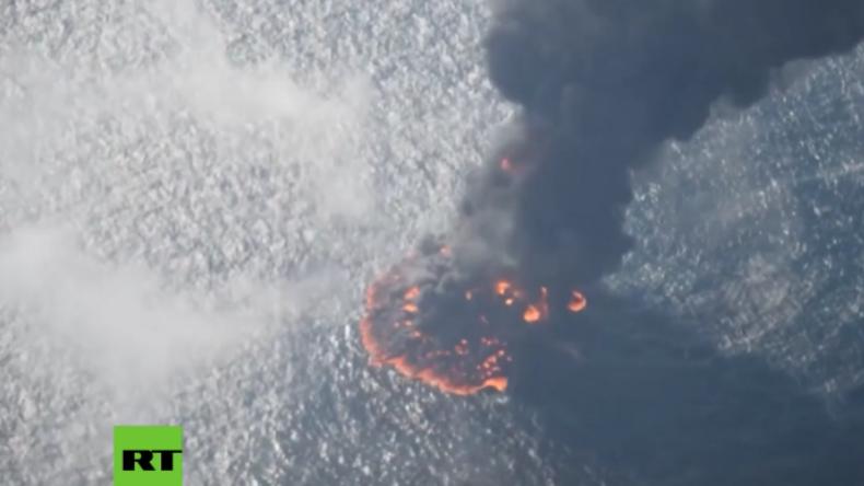 Iranischer Öltanker sinkt nach heftigem Feuer und Explosion an Bord