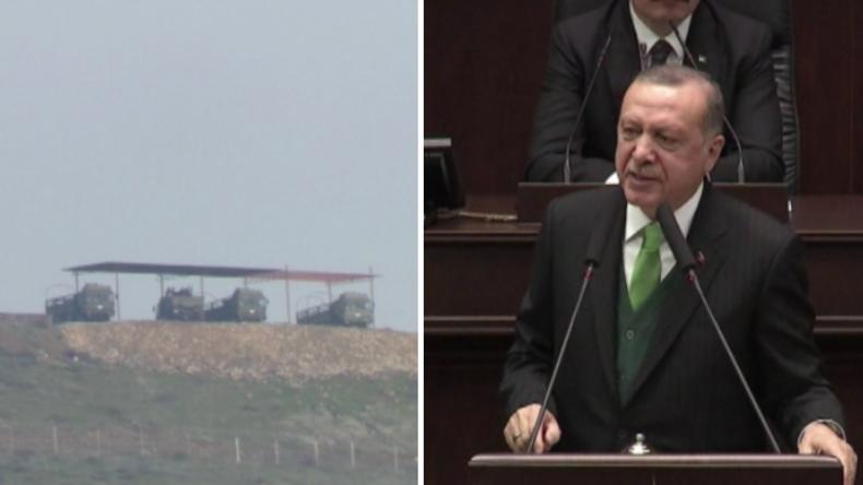 Erdogan kündigt Militäroperation in Syrien an und lässt Raketen an Grenze aufstellen
