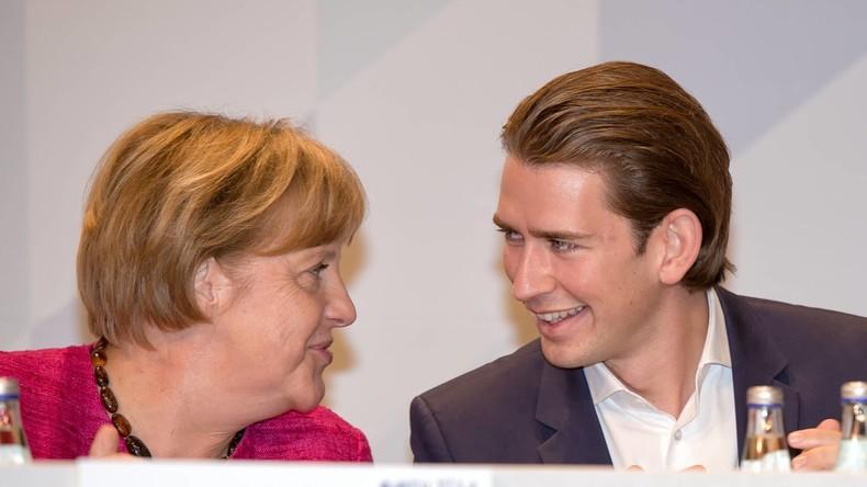 LIVE: Kanzlerin Merkel und der österreichische Bundeskanzler Kurz halten Pressekonferenz in Berlin