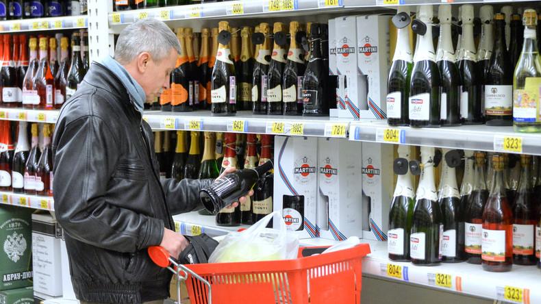 Gesundheitsministerium: Alkoholkonsum in Russland binnen fünf Jahren um 80 Prozent zurückgegangen