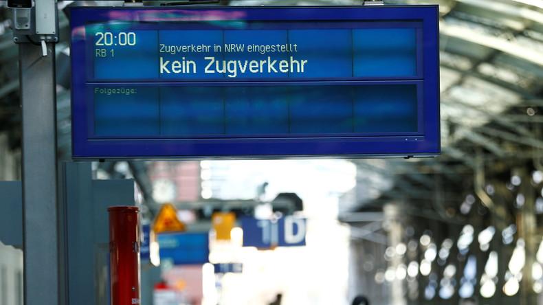 "Bahn stellt wegen Sturmtief ""Friederike"" Fernverkehr bundesweit ein"