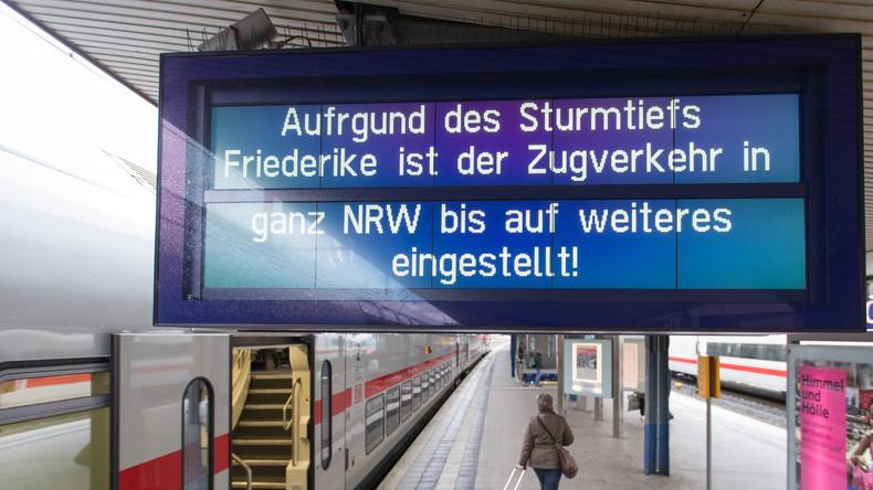 """Überblick zu Sturm """"Friederike"""": Mindestens acht Tote in Deutschland"""
