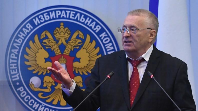 Chef russischer Liberaldemokraten schlägt US-Hackern vor, ihm bei Präsidentenwahl zu helfen