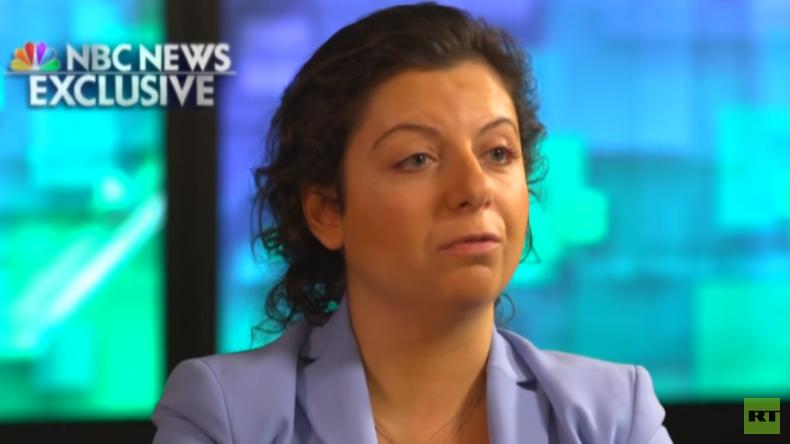 RT-Chefin Simonyan im NBC-Interview: Wenn alle Medien das gleiche Lied singen, wird es gefährlich