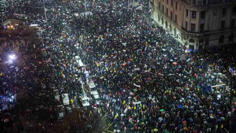 Zehntausende Bürger bei Anti-Regierungsdemonstrationen in Rumänien