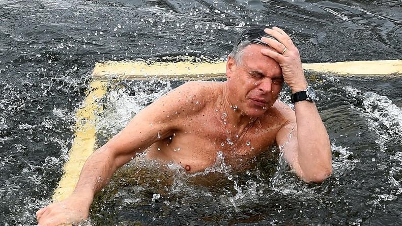 Eistaufe während der Eiszeit: US-Botschafter Huntsman badet in eisigem Wasser bei Moskau