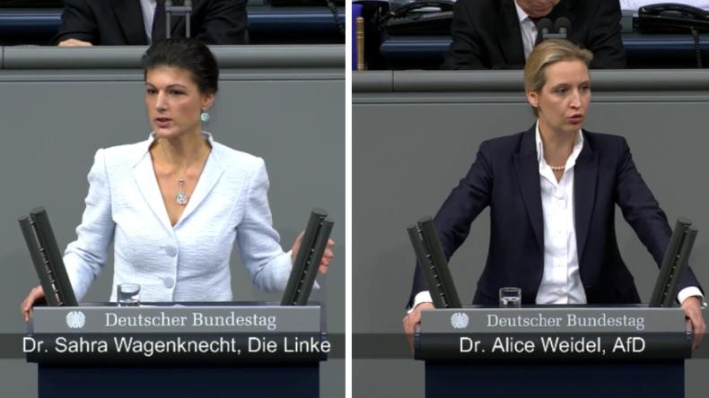 Wagenknecht vs Weidel - Zwei kritische Reden zum heutigen Europa aus linker und rechter Sicht