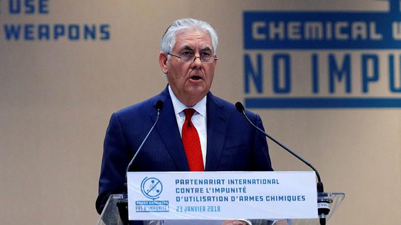"""Amerikanischer Außenminister zu Giftgasangriff in Syrien: """"Russland ist letztlich schuld"""""""