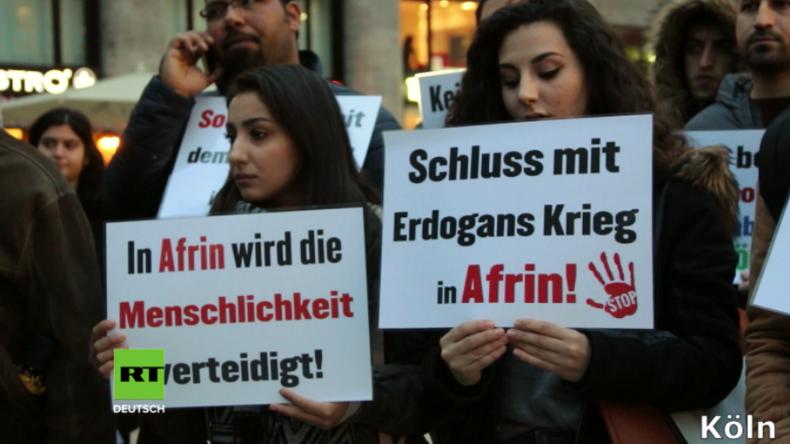 Hunderte gehen in Köln und Berlin gegen Erdogans Afrin-Offensive auf die Straße