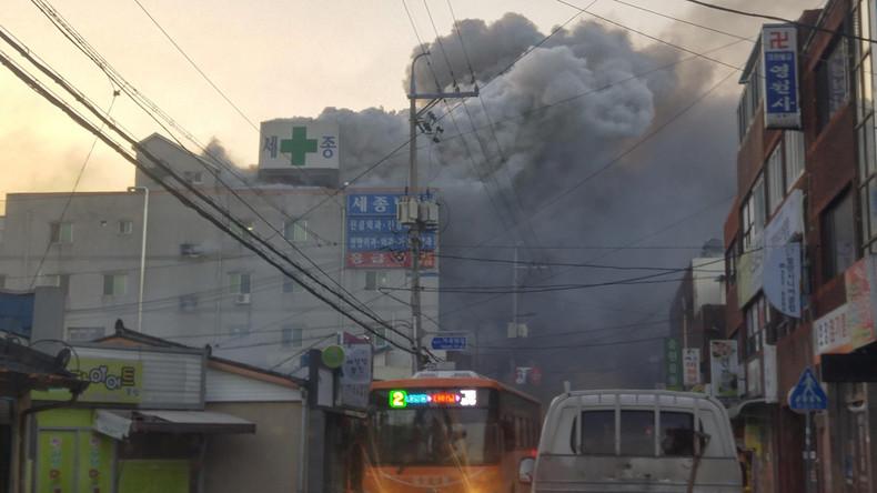Krankenhaus-Feuer in Südkorea - Mindestens 41 Tote