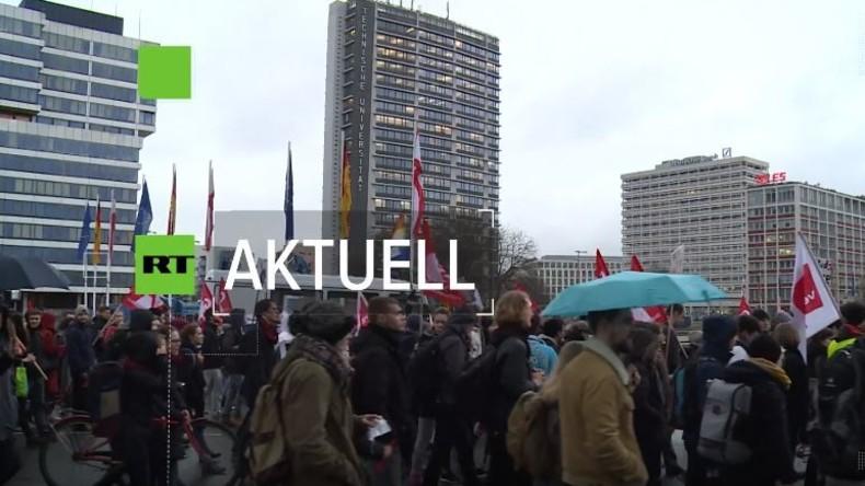 """Studentischer Warnstreik in Berlin: """"Gemeinsam gegen Prekarisierung"""""""