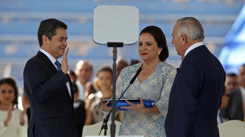 Honduras' Präsident nach umstrittener Wahl im Amt vereidigt
