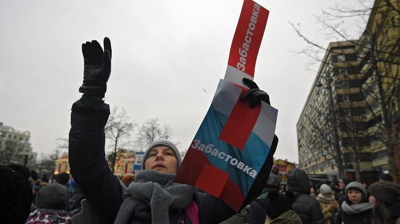 """Landesweiter """"Wählerstreik"""" in Russland – Oppositionsführer Nawalny festgenommen"""