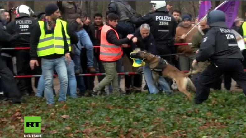 Proteste vor türkischer Botschaft – auch in Berlin Zusammenstöße wegen Offensive in Afrin
