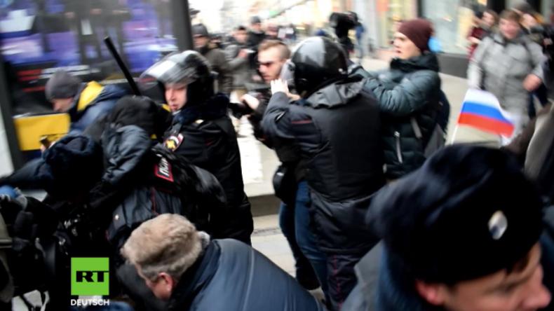 Moskau: Wieder Aufruf zu illegalem Protest - Nawalny erneut festgenommen und wieder freigelassen
