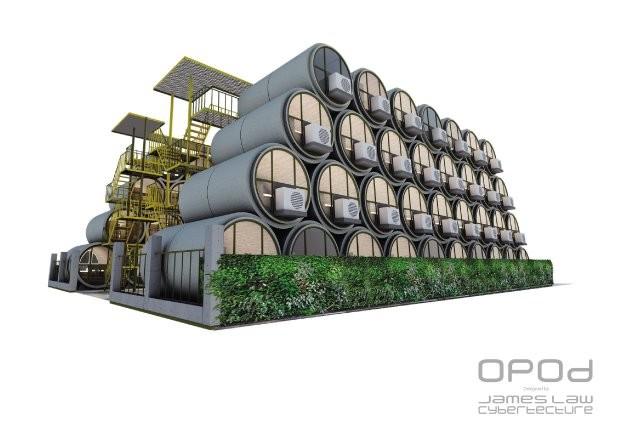 Kein Platz für neue Häuser? Architekt aus Hong Kong will Wohnungen in alten Wasserrohren einrichten