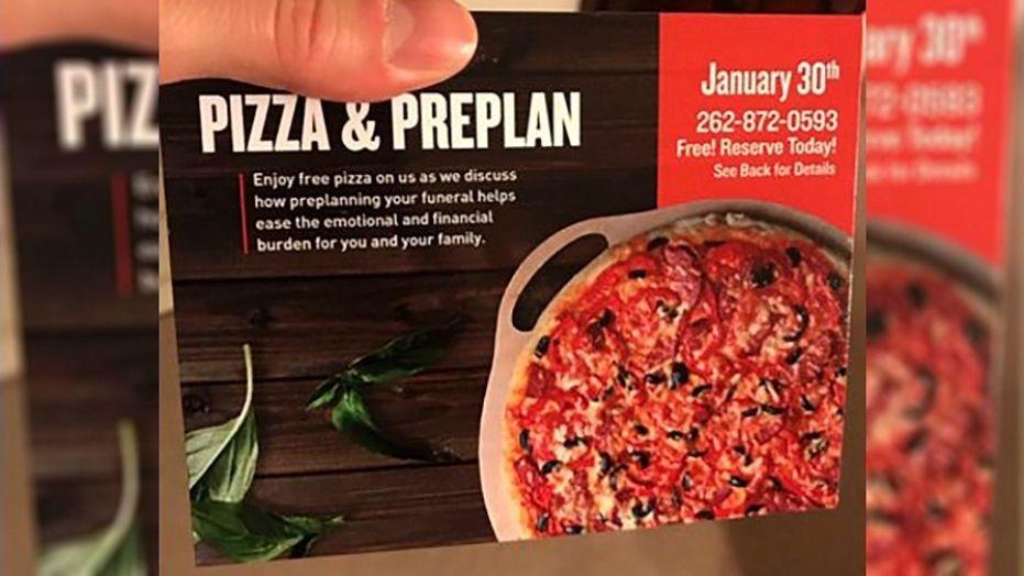 Bei Gratis-Pizza das eigene Begräbnis vorplanen