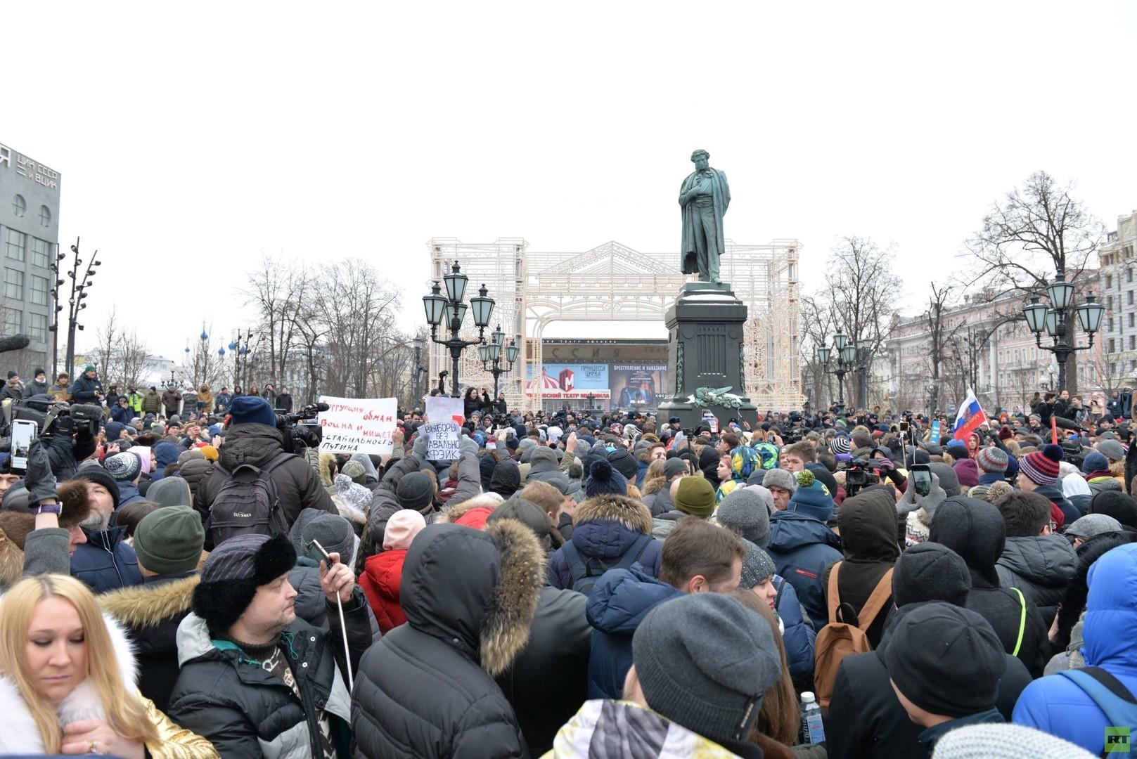 """Russland: Schwache Beteiligung bei den """"Wahlstreik""""-Aktionen Nawalnys"""