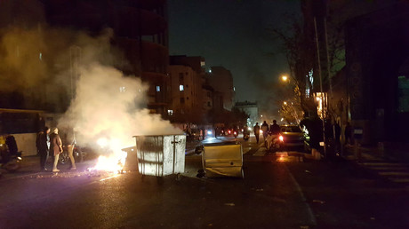 Demonstranten in Teheran, Iran, 30. Dezember 2017.